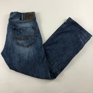 Silver Jeans Zac Relaxed Thick Stitch Jeans 36